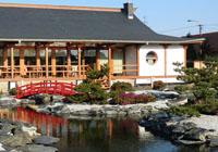 herbaciarnia w ogrodzie japońskim