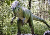 dinozaur w lesie